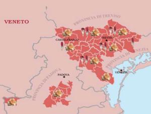 Il territorio del radicchio rosso di Treviso e Varigato di Castelfranco
