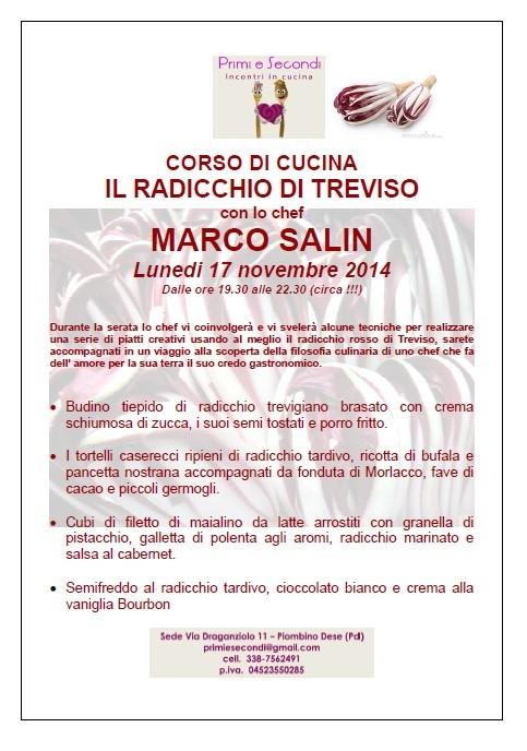 il radicchio di treviso corso di cucina con lo chef marco salin ... - Corso Cucina Treviso